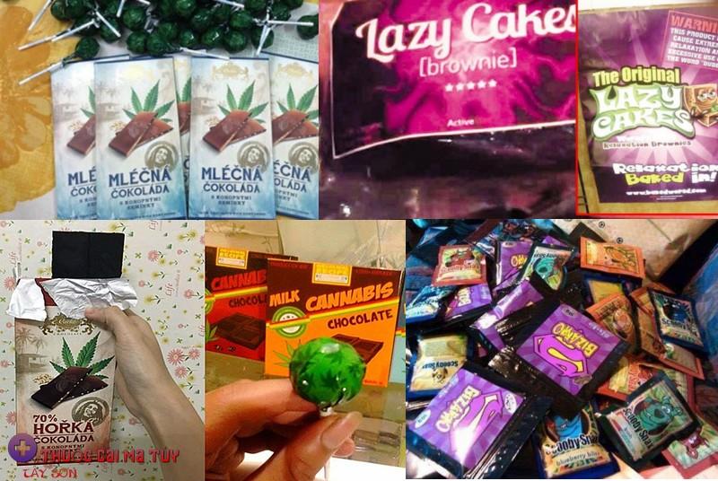 Bánh lười (lazy cake), kẹo mút cần sa, sô-cô-la cần sa